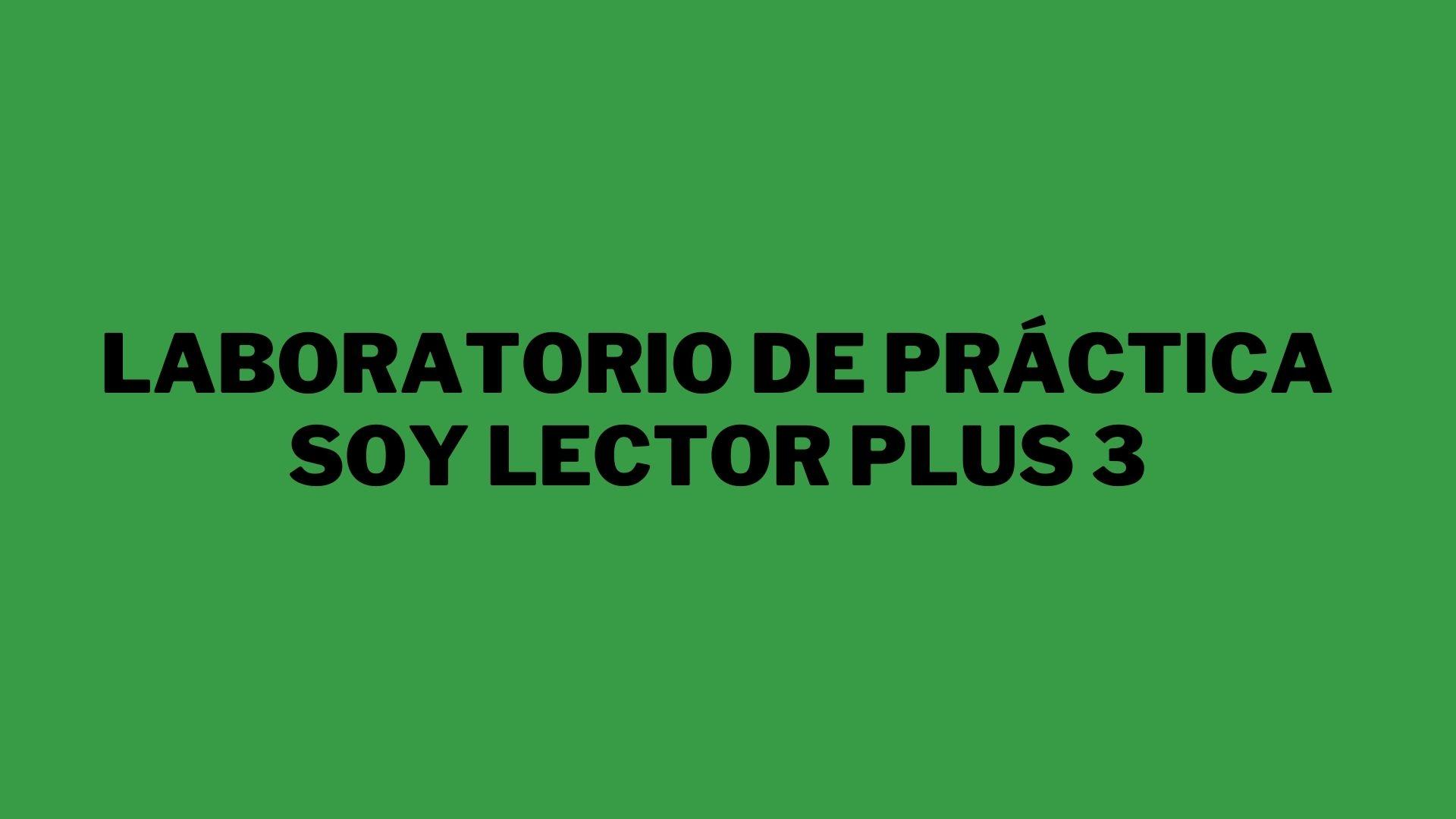Laboratorio tipo PISA Soy Lector Plus 3